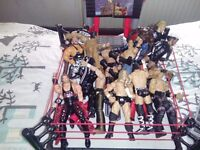 WWF wrestling figures and ring