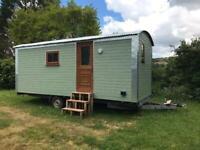 Shepherds Hut, towable, 20ft x 8ft, double glazing, insulated