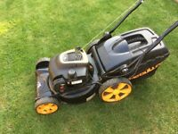 McCulloch M46-125WR self drive petrol lawn mower. In working order