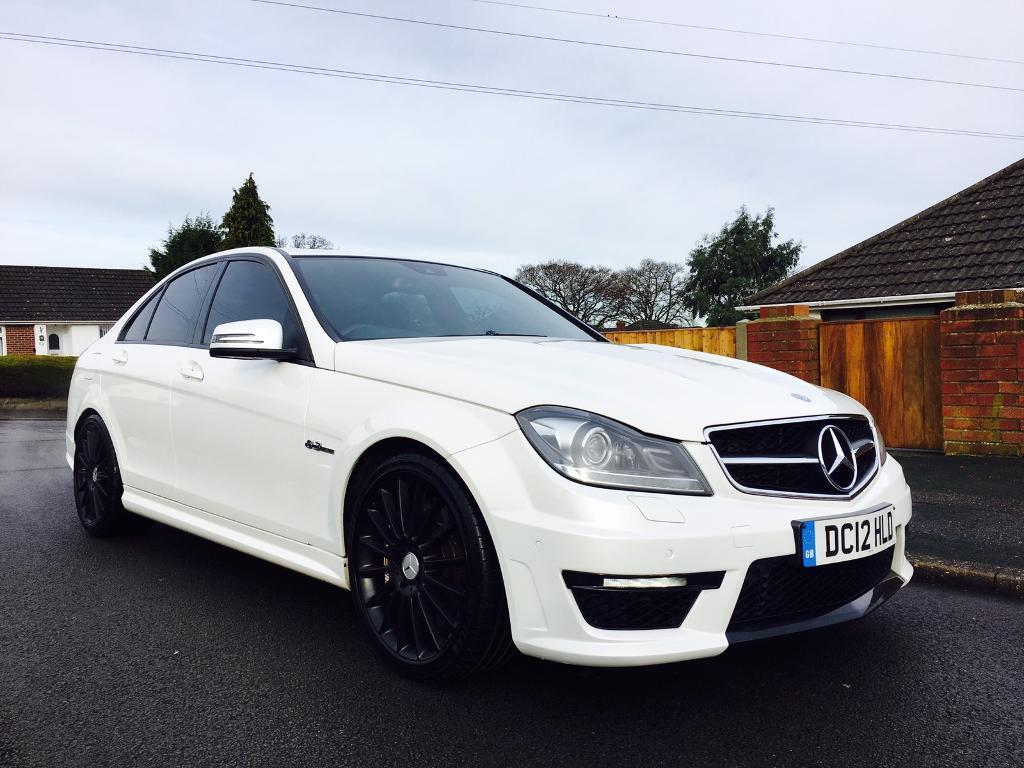 2012 mercedes c63 amg saloon pearl white low miles full