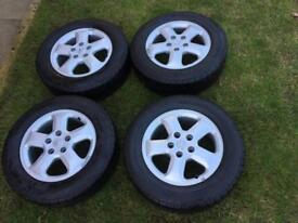 Vauxhall Vivaro Sportive alloys with tyres