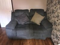 2 Grey Sofa's, Great condition: 3 seater with electric recliner & 2 seater with manual recliner
