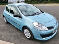 2008 RENAULT CLIO 1.2 EXTREME PETROL - SKY BLUE - 3 DOOR - MANUAL - YEARS MOT - IDEAL FIRST CAR
