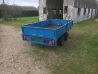 Ifor Williams 10x5.6 diopside flatbed plant trailer with ramps and winch