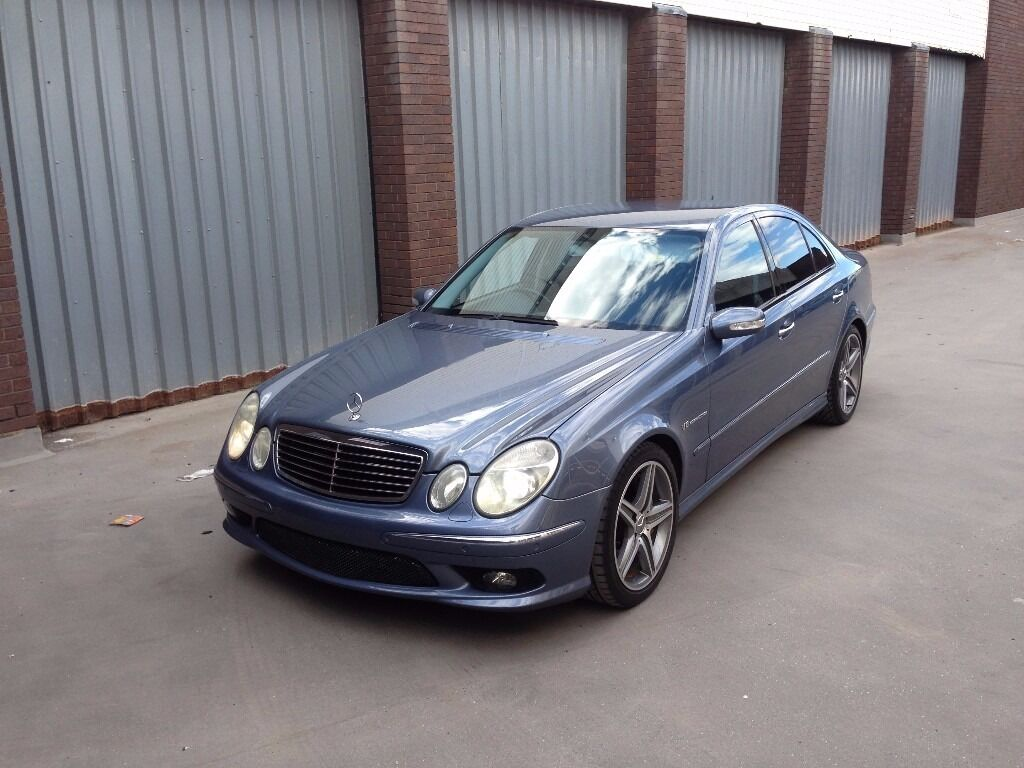 2003 mercedes benz e55 amg kompressor 575 bhp rare blue for Mercedes benz e 55 amg