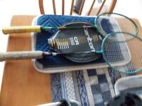 Badminton Rackets (two) & one cover,+12 shuttles