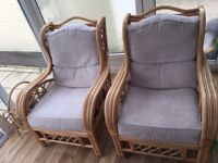 Excellent Quality Bamboo Chairs (2) & Magazine Rack