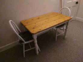 Shabby Chic Pine Painted Table Annie Sloane Paint