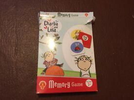 Charlie and Lola memory card game