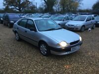 1998 Toyota Corolla 1.6 Auto 1 Years MOT 2 Former Keepers Low Milage Cheap Car