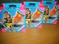 NEW - 3 x Playmobil Black Knights (Special 4646)