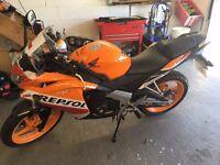Honda CBR 125R Repsol Learner Motor Bike