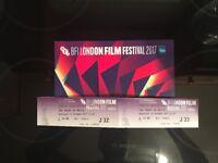 x2 BFI London Film Festival Tickets 11th Oct 2017