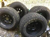 Land Rover Discovery 2 modular wheels and General Grabber tyres