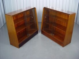 X2 Retro Display Cabinet Vintage G-Plan Bookcase Furniture O