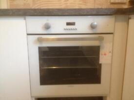 Single fan oven and glass hob