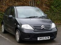2010 Citroen C3 1.1 i 8v Petrol 5door Hatchback low mileage black cheap to run clean car in out