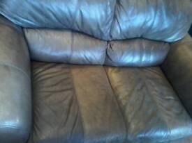 Heavy duty leather 2 seater sofa