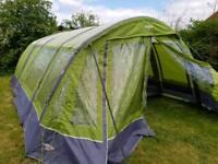 Vango illusion 800 airbeam tent complete camping setup