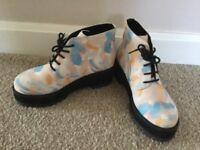 Ladies multi coloured boots