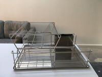 Stainless steel kitchen drainer
