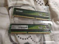 2x2GB DDR3 1600MHz RAM (Patriot Memory)