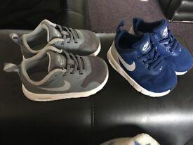 Baby boys size 4.5 & 5.5 Nike airmax