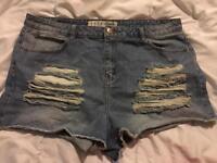 "Distressed Shorts, Size 20 (39"" Waist), Denim Co."