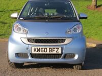 2010 SMART FORTWO PULSE MHD AUTO,FSH, 28000 MILES FINANCE AVAILABLE £96 PER MONTH