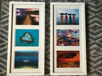 Framed set of colourful photographs