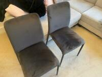 Dwell velvet dining chairs