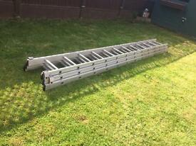 Wickes 3 section professional extension ladder 9.32M