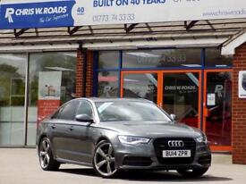 AUDI A6 3.0 TDi QUATTRO S LINE BLACK EDITION AUTO (245) ** Sat Nav + Sun Roof + Leather ** 2014