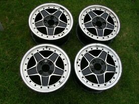"4 No. 15"" Intra rims- 7J x 15. From ex Italian Grp. N Touring car"