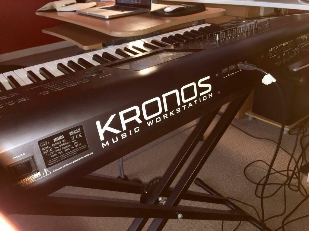 KORG KRONOS 73 piano-weighted keys + Hard Case + Stand + Pedal + Manual    in Pollokshields, Glasgow   Gumtree
