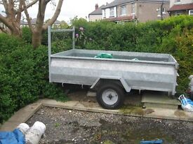 "Galvanised trailer external measurements approx 7ft 6"" x 4ft 4"" excellent condition"