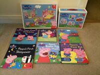 Peppa Pig Jigsaws & Books Bundle