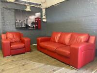 MODERN AND STYLISH REAL LEATHER SOFA SET 3+1 seater