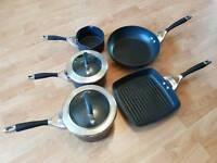 Circulon pan set inc frying pan and griddle