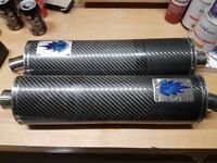 Blue Flame Evo Carbon Exhausts (Pair)