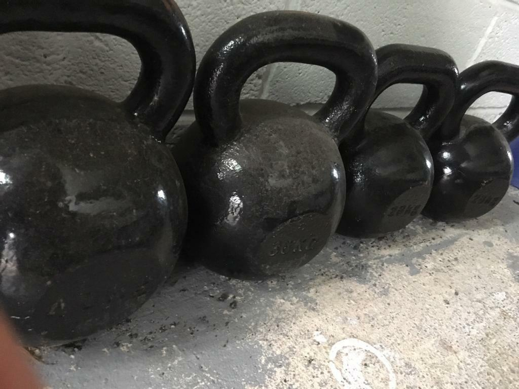 Cast Iron Kettlebells set
