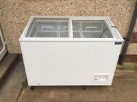 Polar chest freezer with glass top 10 months old