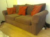 Three Seater Brown Sofa - Great Condition