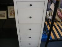 TALL WHITE IKEA CHEST OF DRAWERS