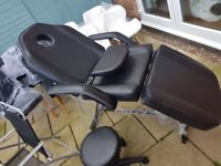 massage/tattoo chair with stool