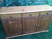 Large pine sideboard, good condition