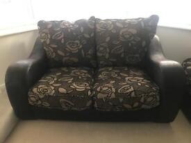 Corner sofa set + 2 seater + puffet SCS