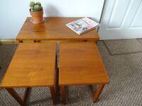 **SOLD** Vintage Retro Mid Century Teak Nesting Tables