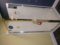 New 800 pivot shower door Aqualux semi frameless - door only!