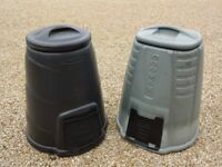 2 Plastic 330l Garden compost bins